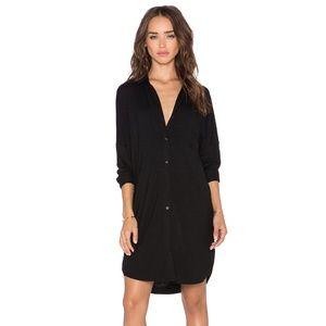 BLQ Basiq Button Down Long Sleeve Dress - Black